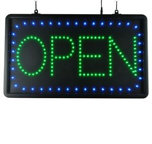 Led Sign Ultra Bright Open Large Display Neon 22 X 13 Indoor Use