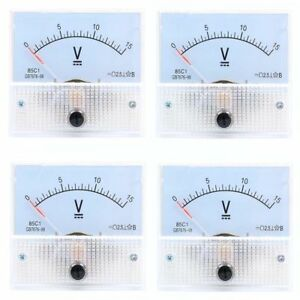5v To 300v Dc ac Voltmeter 85c1 85l1 Analog Voltage Panel Meter 65 56mm