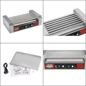 Grill Machine 18 Hot Dog 7 Roller Stainless Steel Tabletop Small Appliances New