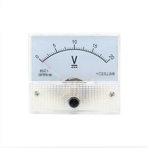 New 0 20v Dc Voltmeter 85c1 Analog Voltage Panel Meter Volt Table 65 56mm