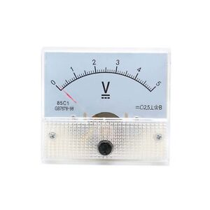 New 0 5v Dc Voltmeter 85c1 Analog Voltage Panel Meter Volt Table 65 56mm