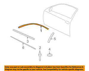 Chevrolet Gm Oem 00 07 Monte Carlo Door Upper Molding Trim Left 10321351