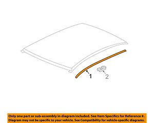 Chevrolet Gm Oem 12 16 Sonic Roof Molding Trim Right 96878542