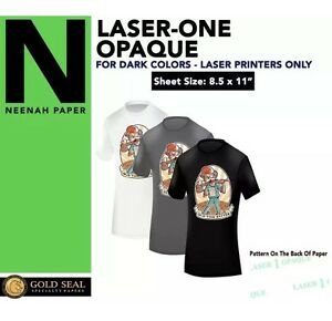 Laser 1 Opaque Dark Shirt Heat Press Machine Transfer Paper 8 5 X 11 1000 Sheets