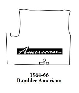 1964 1966 Amc Rambler American Trunk Rubber Floor Mat Cover With A 007 American