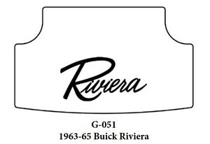 1966 1970 Buick Riviera Trunk Rubber Floor Mat Cover With G 051 Riviera Script