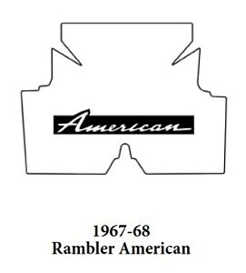 1967 1968 Amc Rambler American Trunk Rubber Floor Mat Cover With A 007 American