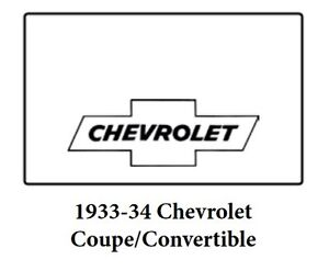 1933 1935 Chevrolet Coupe Trunk Rubber Floor Mat Cover With G 010 Chevy Bowtie
