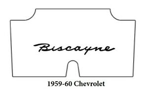 1959 1960 Chevrolet Trunk Rubber Floor Mat Cover With G 021 Biscayne
