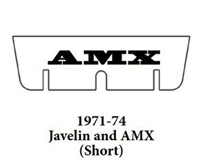 1971 1974 Amc Javelin Trunk Rubber Floor Mat short Cover Kit With A 070 Amx