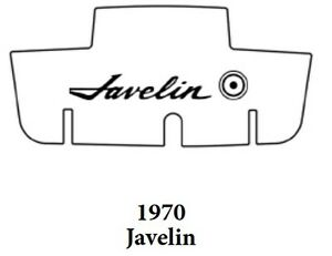 1970 Amc Javelin Trunk Rubber Floor Mat Cover With A 005 Javelin