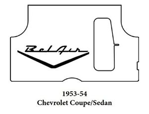1953 1954 Chevrolet Trunk Rubber Floor Mat Cover With G 082 Belair
