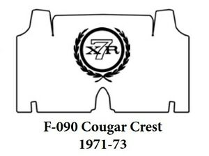 1971 1973 Mercury Cougar Trunk Rubber Floor Mat Cover With F 090 Cougar Crest