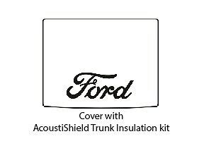 1933 1934 Ford Roadster Trunk Rubber Floor Mat Cover Kit With F 001 Ford Script