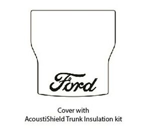 1941 1948 Ford Convertible Trunk Rubber Floor Mat Cover Kit W F 001 Ford Script