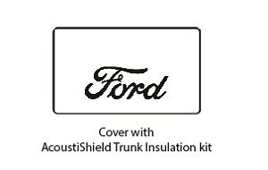 1928 1929 Ford Cabriolet Trunk Rubber Floor Mat Cover Kit With F 001 Ford Script
