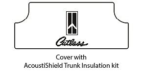 1964 1967 Oldsmobile Trunk Rubber Floor Mat Cover With G 034 Cutlass Logo