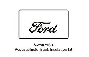 1930 1931 Ford Coupe Trunk Rubber Floor Mat Cover With F 001 Ford Script