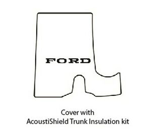 1957 1958 Ford Trunk Rubber Floor Mat Cover With F 045 Fairlane Script