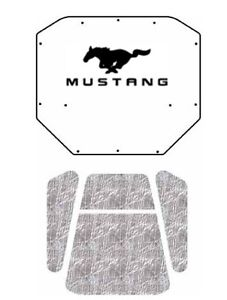 1983 1986 Ford Mustang Under Hood Cover With F 019 Must Pony