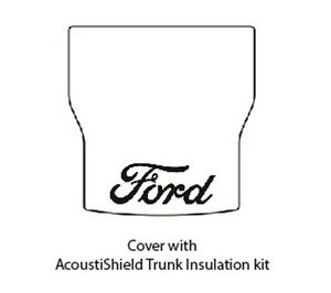 1941 1948 Ford Coupe Trunk Rubber Floor Mat Cover Kit With F 001 Ford Script