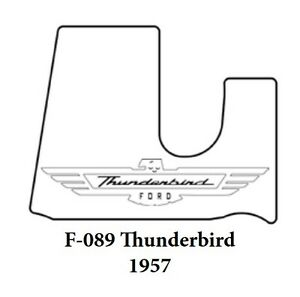 1957 Ford Trunk Rubber Floor Mat Cover W F 089 Ford Script