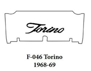 1968 1969 Ford Torino Trunk Rubber Floor Mat Cover With F 046 Torino Script