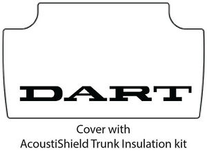 1962 1964 Dodge Dart Trunk Rubber Floor Mat Cover With Mb 007t Dart Text