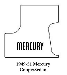 1949 1951 Mercury Trunk Rubber Floor Mat Cover Kit With F 100 Mercury