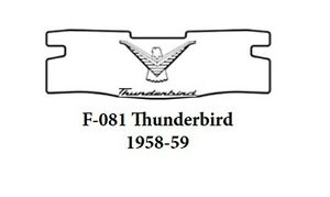 1958 1960 Ford T Bird Trunk Rubber Floor Mat Cover Kit W F 081 Ford Thunderbird
