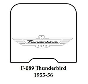 1955 1956 Ford Trunk Rubber Floor Mat Cover W F 089 Ford Script