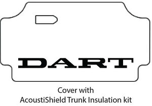 1967 1969 Dodge Dart Trunk Rubber Floor Mat Cover With Ma 015 Dart