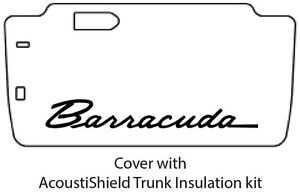 1965 1966 Plymouth Barracuda Trunk Rubber Floor Mat Cover With Ma 028 Barracuda