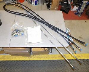Nos Ford New Holland Versatile 7414 Loader Hydraulic Boom Kit 9703817