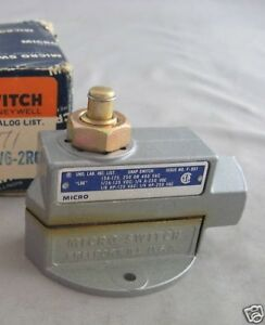 Micro Switch Straight Plunger Actuator Bzv6 2rq New