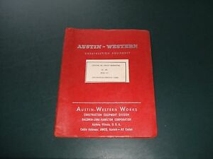 Austin western Model 110 Self propelled Hydraulic Crane Op Service Manual