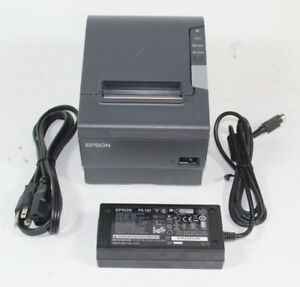 Epson Network Thermal Receipt Printer Tm t88v Pos W Ethernet Ac Adapter