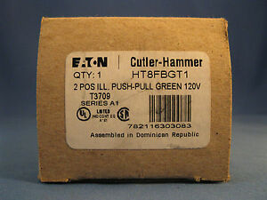 Cutler Hammer Push pull Green Switch Button Ht8fbgt1 New
