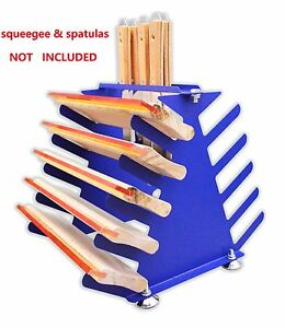 Screen Printing Squeegee spatulas Holder Desktop Shelving Tool Rack 5 Layers