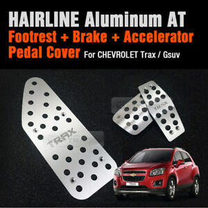 Automatic Car Hairline Aluminum Foot Pedal Cover For Chevrolet 2013 2017 Trax