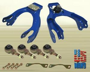 Blue Front Upper Control A arm Camber bushing Kit Honda Civic Delsol Eg Ej Ej1