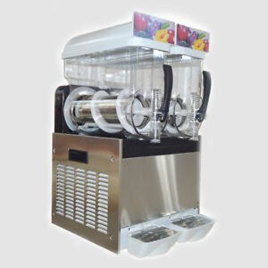 Commercial Frozen Slush Making Machine Smoothie Maker Margarita Drink 2 Tanks