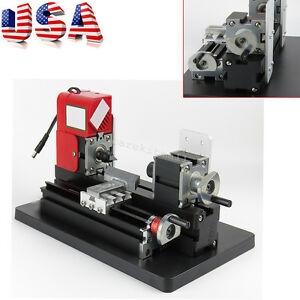 From Us Mini Wood Working Lathe Motorized Machine Diy Tool Metal Multi use Easy