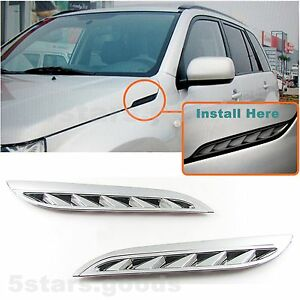 Chrome Side Air Intake Vent Grille Covers Trim For 2006 2013 Suzuki Grand Vitara