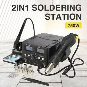 8582 2 In 1 Soldering Rework Stations Smd Hot Air Iron Gun Desoldering Welder