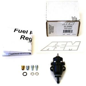 Aem Billet Fuel Pressure Regulator Fpr For 92 95 Honda Civic Eg Del Sol 25 300bk