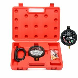 Fuel Pump Vacuum Tester Gauge Leak Carburetor Pressure Diagnostics W Case Ca
