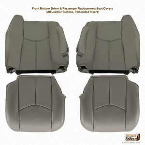 2003 2004 2005 2006 Cadillac Escalade Upholstery Leather Seat Covers Gray