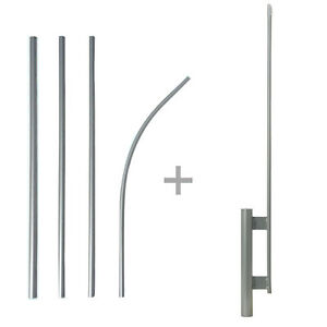 Spike And Pole Kit For 2 5 3 Flutter Swooper Feather Banner Flag Ground Stake
