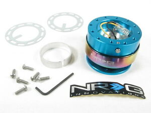 Nrg Steering Wheel Quick Release Kit Gen 2 0 New Blue Body W Neo Chrome Ring